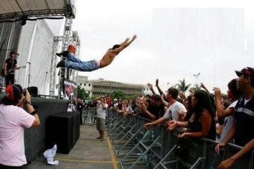 concert,jump,live,stage dive,stage diving