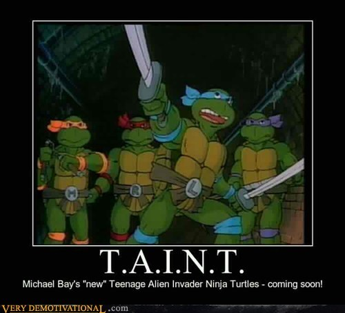 cartoons,hilarious,Michael Bay,rapheal,swords,taint,TMNT