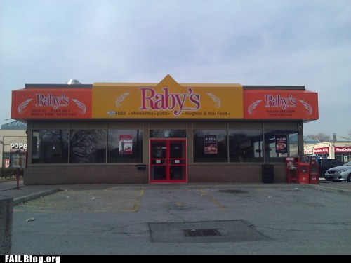 Rabies - Get your shots before eating here.