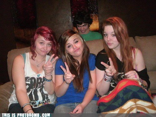 annoying,Dat Ash,girls,Good Times,peace sign