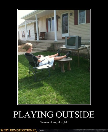 good idea,hilarious,playing outside
