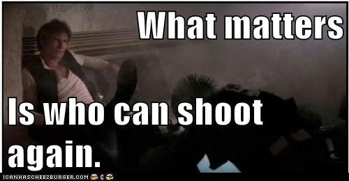greedo,han shot first,Han Solo,Harrison Ford,matters,shoot,star wars