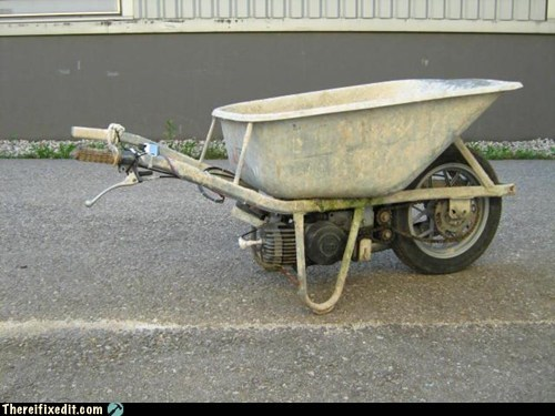honda,unicycle,wheelbarrow