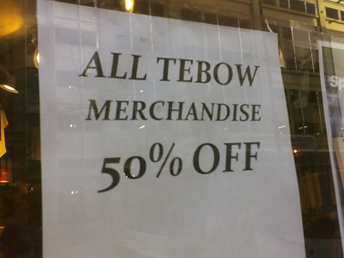 Professional At Work signs sports tebow
