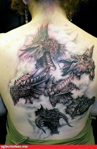 back tattoo,dd,dragon tattoo,dragons,tattoo WIN