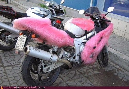 best of week fuzzy hardcore motorcycle pink wtf - 6008772352