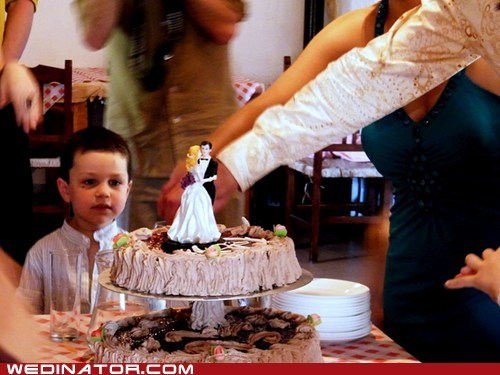 cake children funny wedding photos kids wedding cake