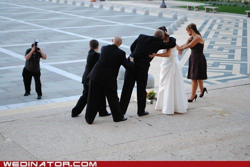 Awkward bride funny wedding photos groom KISS photography - 6008972800