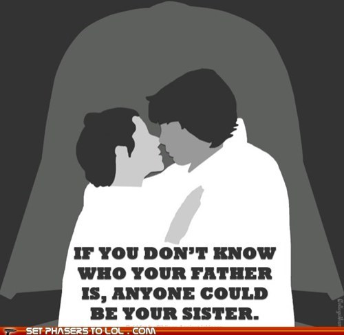 anyone,Father,KISS,luke skywalker,moral,Princess Leia,sister,star wars