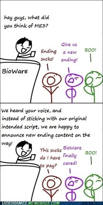 BioWare boo endings mass effect mass effect 3 meme - 6009089024