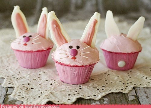 bunny,chocolate,cupcakes,ears,epicute,frosting,whiskers