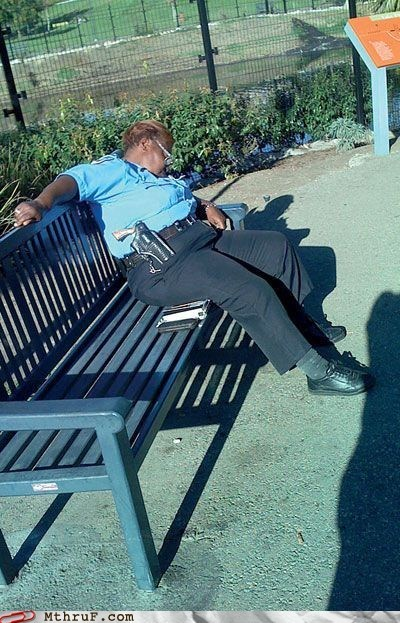 asleep guard gun officer police security