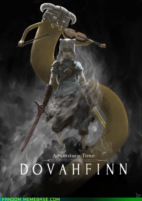 best of week crossover dovakiin Fan Art fandom Skyrim the elder scrolls video games - 6009355264