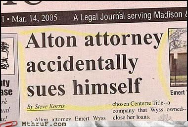 article attorney newspaper sued sued himself sues