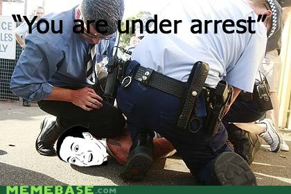 police,Rage Comics,under arrest,you dont say