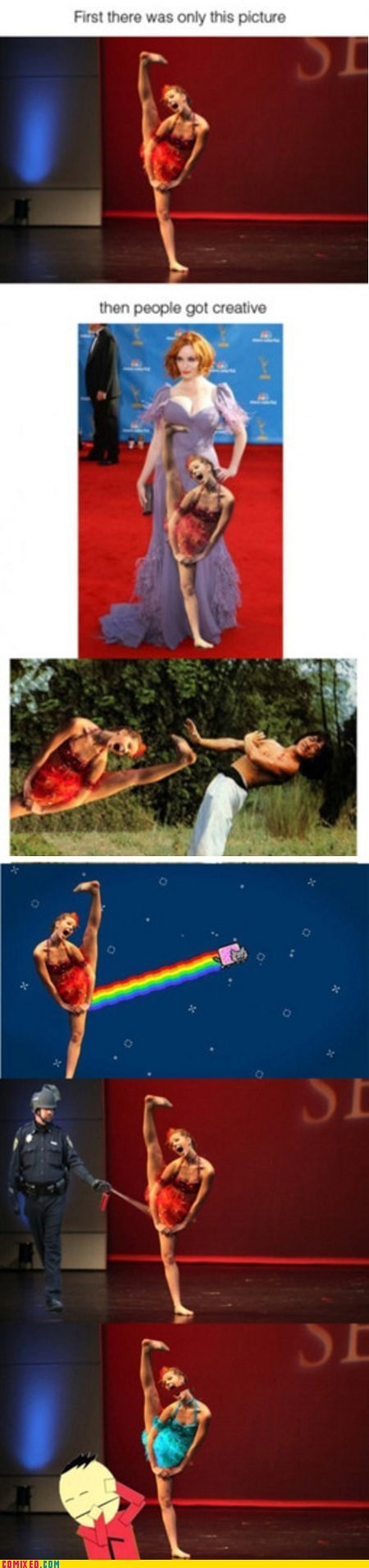 dance,kicking,photoshopped,the internets