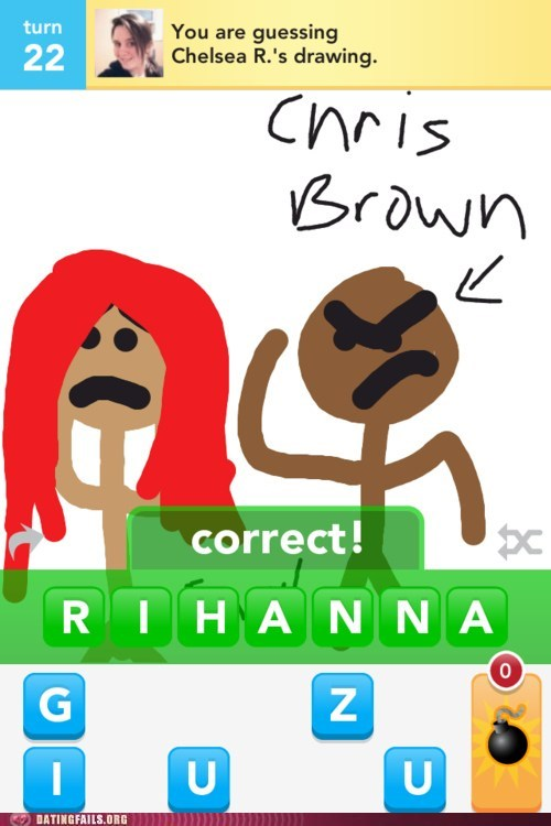 chris brown,draw something,rihanna,run