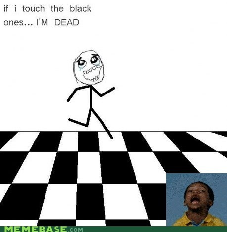 black childhood kitchen tiles Memes racist white - 6009605376
