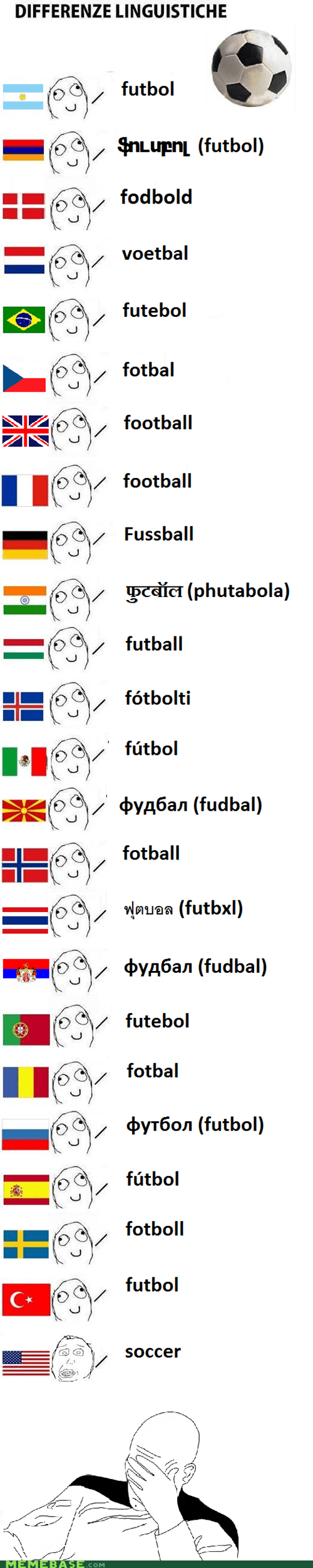 america,different languages,english,football,Rage Comics,soccer