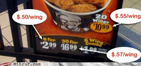 col-sanders expensive junk food kfc pricing rip off