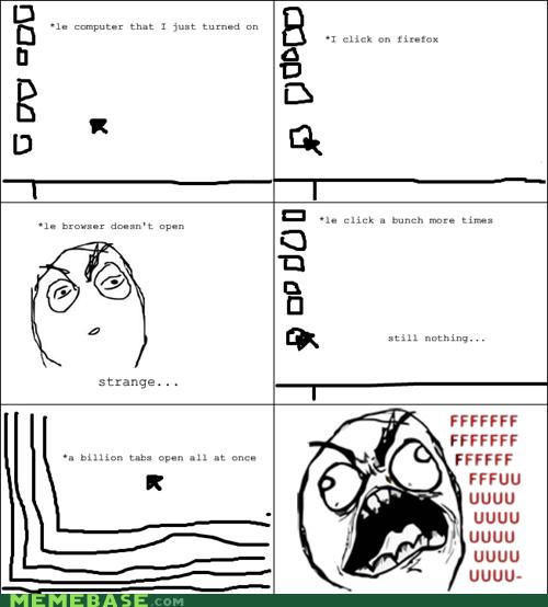 browser computer fu guy lag Rage Comics - 6009895680