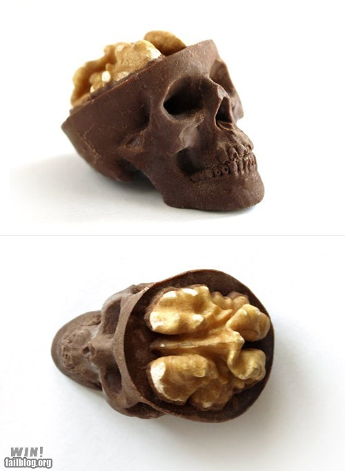 candy chocolate food nuts skull - 6009957632