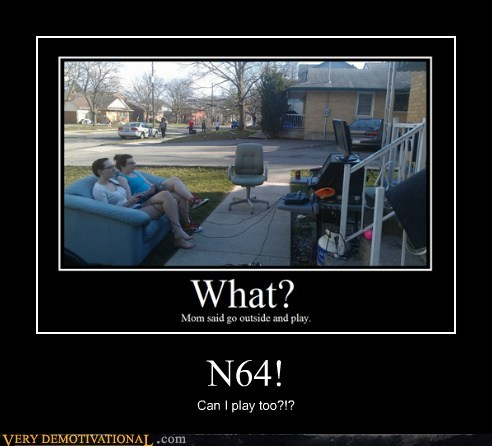 hilarious,n64,outside,video games,wtf