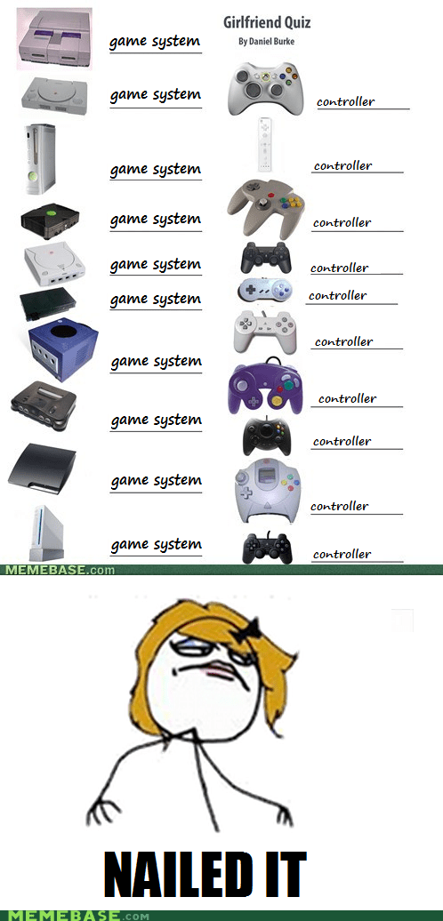 controller girlfriend quiz Nailed It the internets - 6010000896
