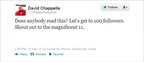 Celebrity Twitterer dave chappelle - 6010055424