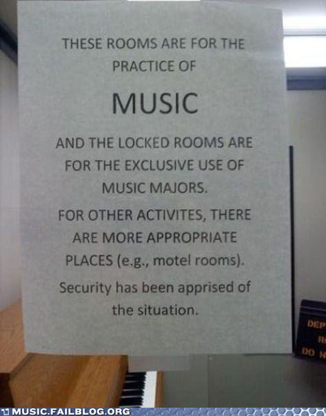 practice room,practicing,school,sex,sign
