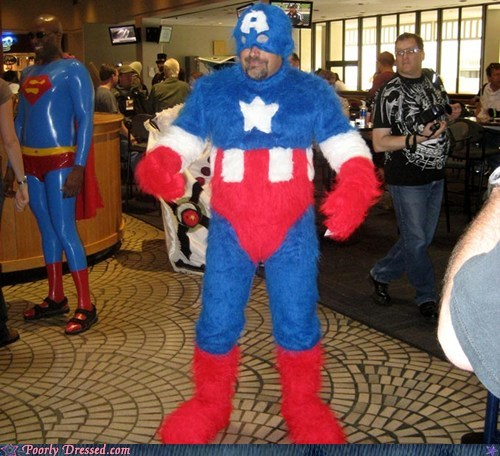 captain america fur furry suit super heroes - 6010214912