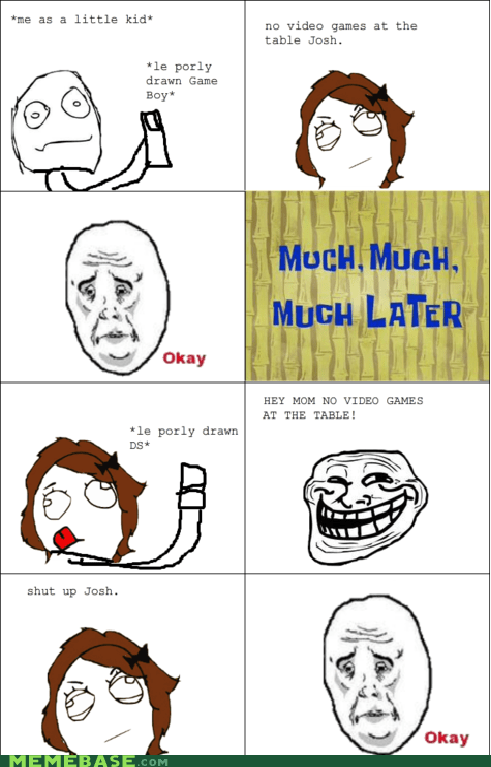 mom,okay face,Rage Comics,troll face,video games