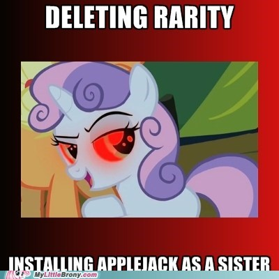 i am error meme new sister rarity robot Sweetie Belle - 6010490368