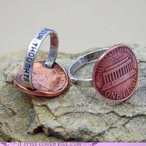 cool accessories pennies ring ring of the day - 6011170048