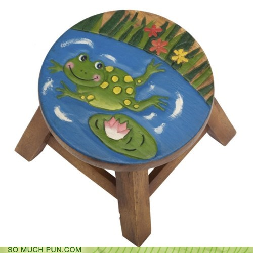 double meaning literalism stool toad toadstool - 6011689216