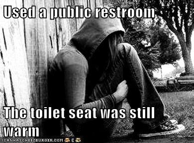 emolulz,First World Problems,gross,restroom,toilet,warm