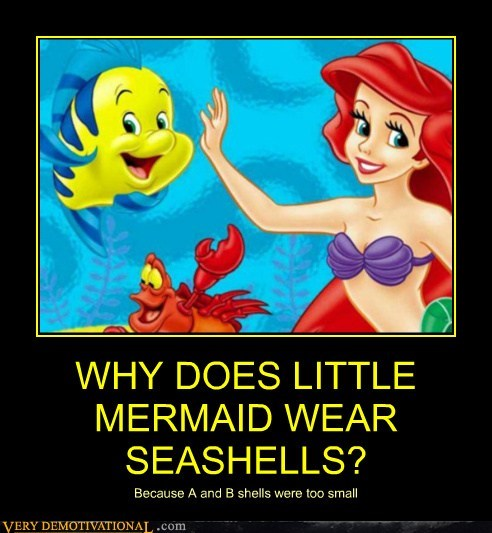 hilarious,mermaid,seashells,wtf