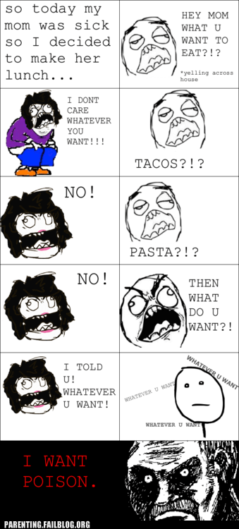 indecision,pasta,poison,rage comic,tacos