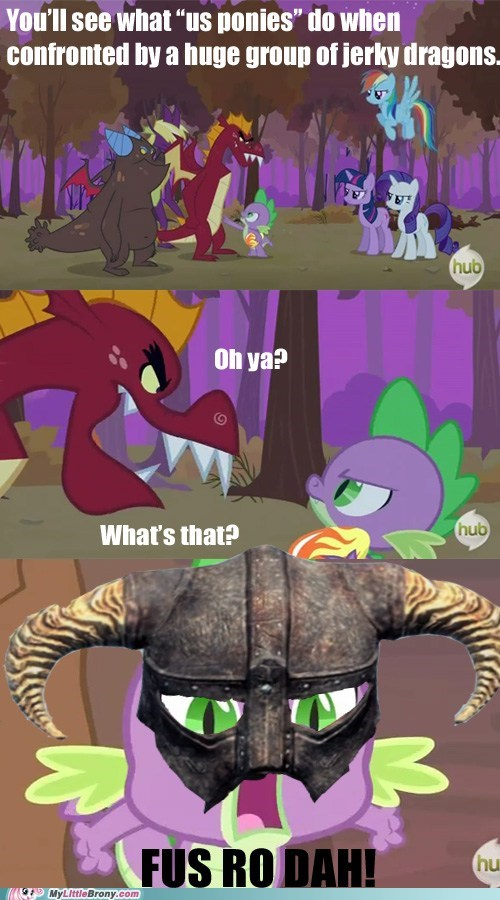comics,dragons,fus ro dah,namby-pamby,ponies,Skyrim