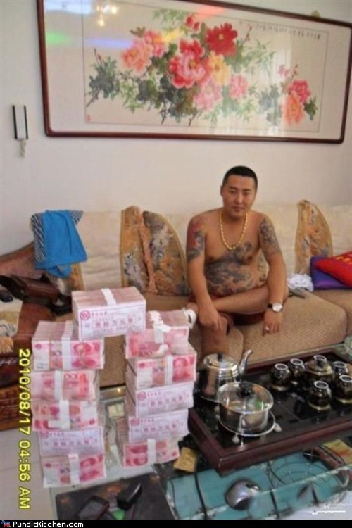 cell phones China chinese gangster crime political pictures triads