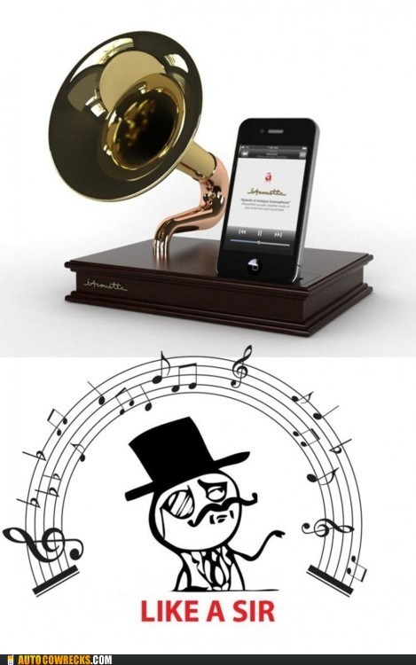 classy,dock,gramaphone,iphone dock,sir