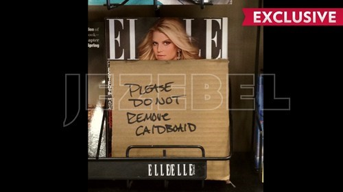 censorship,Elle,Jessica Simpson,pregnant