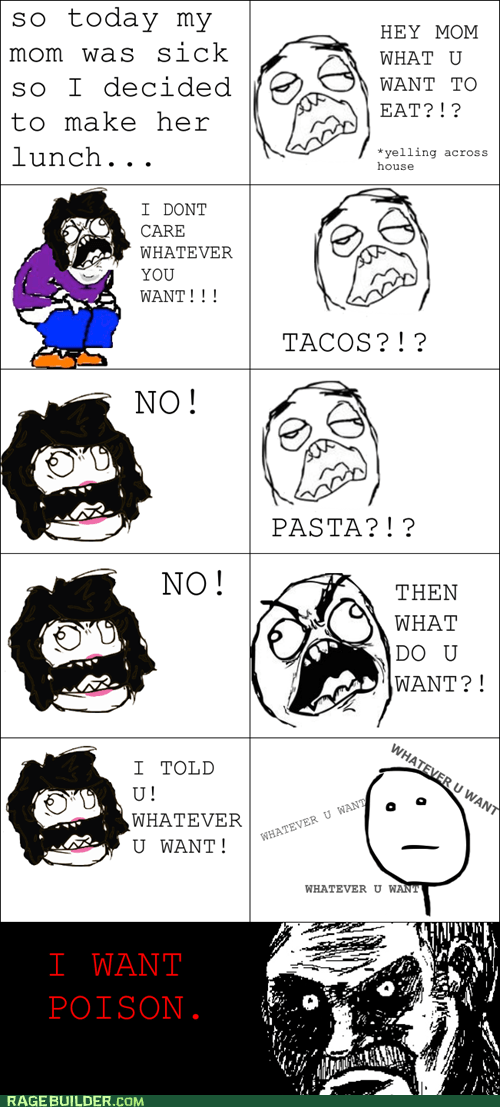 all that racket,food,mom,poison,Rage Comics,sick