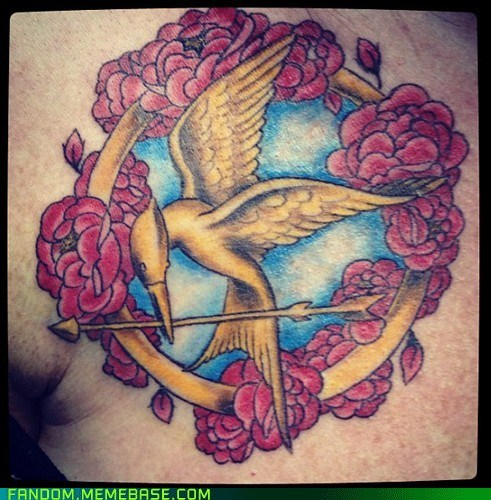 body modification,Fan Art,tattoos,hunger games