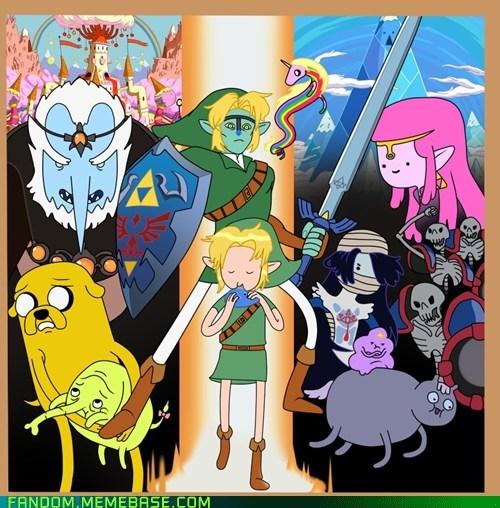 adventure time announcements crossover eccc Fan Art legend of zelda - 6013779456