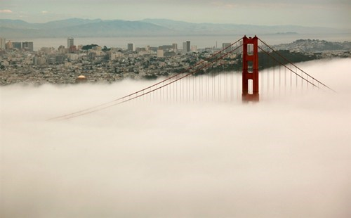 bridge,california,fog