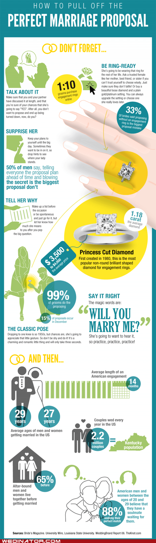 funny wedding photos infographics proposals