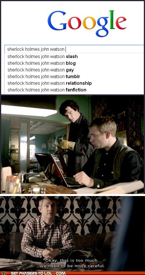 bennedict cumberbatch gay google john watson Martin Freeman sherlock bbc sherlock holmes slash - 6013975808