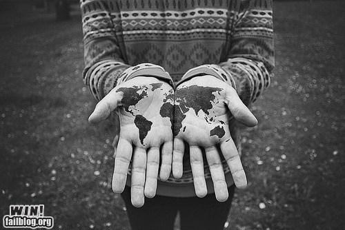 globe hand map paint world - 6014132992