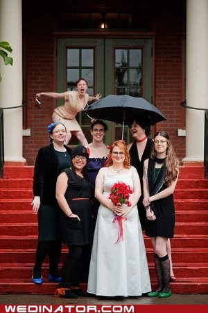 bride funny wedding photos photobomb - 6014142208